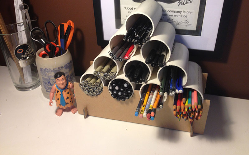 Organized pen/pencil caddy