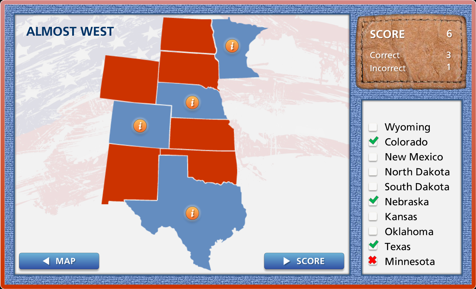For This Project I Designed A Game Like Quiz To Learn The U S State Capitols That Keeps Track Of Your Score As You Learn All The State Capitols In The