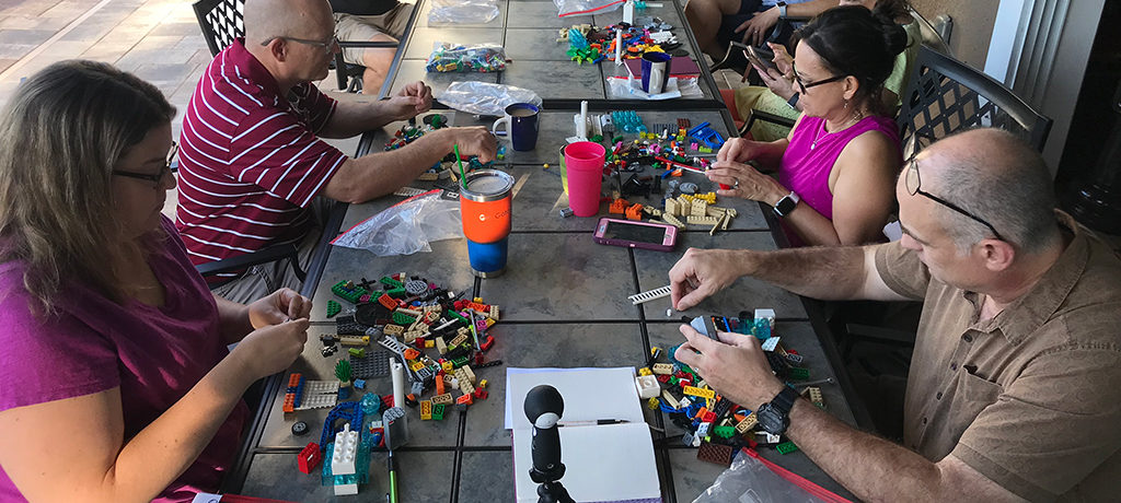 Group of participants conducting a LEGO Serious Play activity
