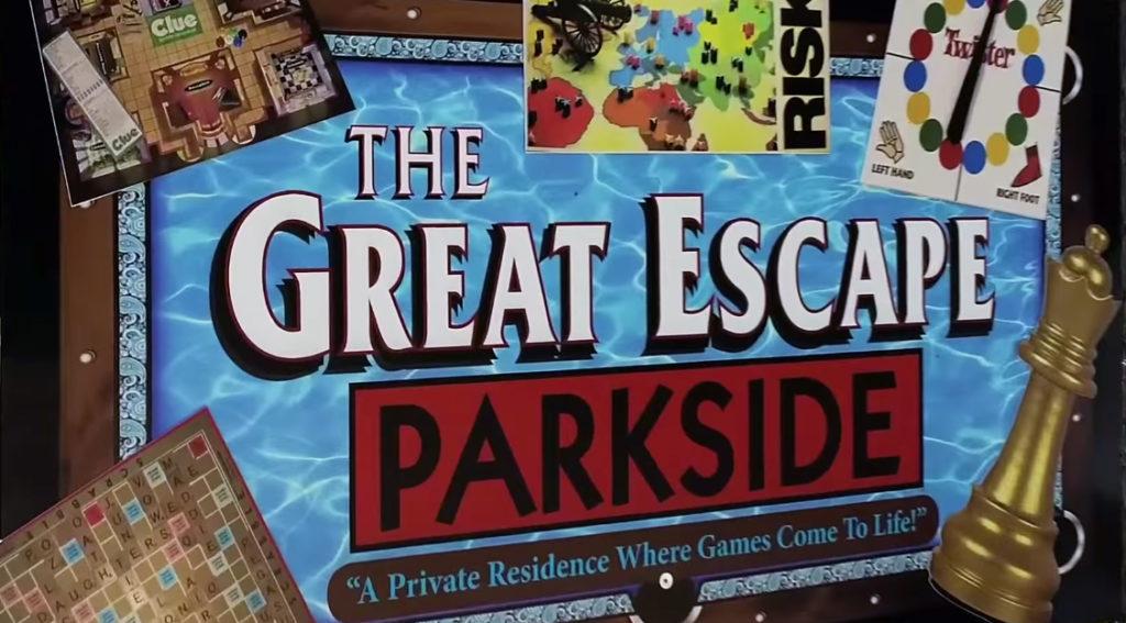 Sign for Great Escape Parkside